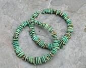 Green Carico Lake Turquoise Earrings