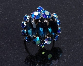 Ocean Blue Marquise Cocktail Ring