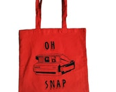 Oh Snap Tote Bag - Red