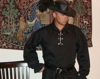 Renaissance Shirt - Men's Custom Clothing for Medieval, Pirate, Steampunk Costume - Custom Made Sizes Sm - 3X - SCA, LARP