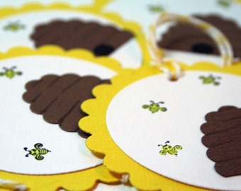 Bee Hive Gift Tag - Set of 4 - Medium