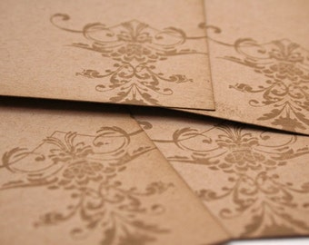 Natural Damask Gift Tag (Set of 4)