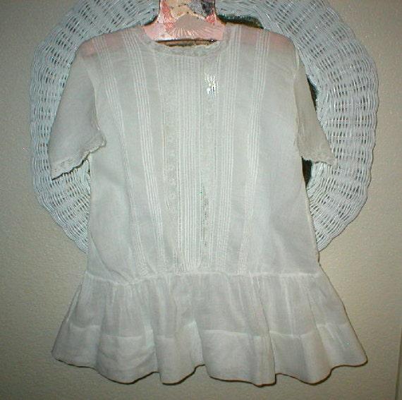 Antique Child's Dress White Victorian Lawn Dress