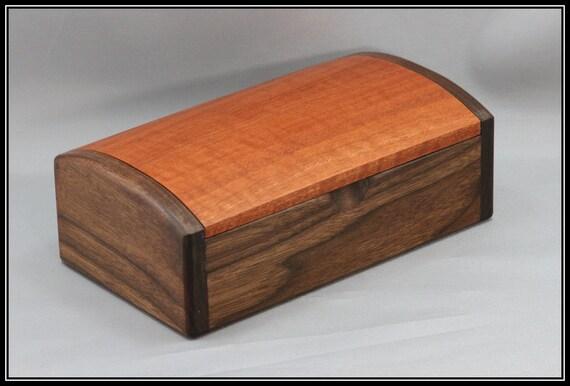 Walnut & Red Gum Eucalyptus Keepsake / Jewelry Box