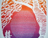 The Max and Spike Cherry Tree Double Happiness Ketubah