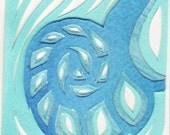 ACEO - Nautilus - Endangered species - print