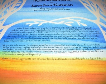 Sunny Day Quaker or Interfaith Wedding Certificate