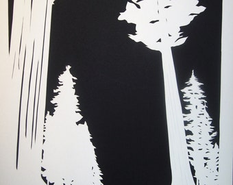 Giant Sequoias Papercut Artwork Ketubah