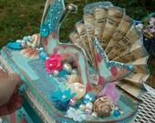 Vintage Seaside Mermaid Jewelry Box
