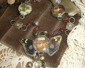Magic Art Gypsy Bohemian One of a Kind Soldered Necklace