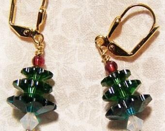 Swavorski Crystal Christmas Earrings
