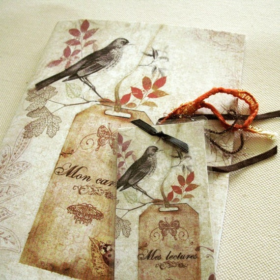 Bird notebook and its assorted bookmark