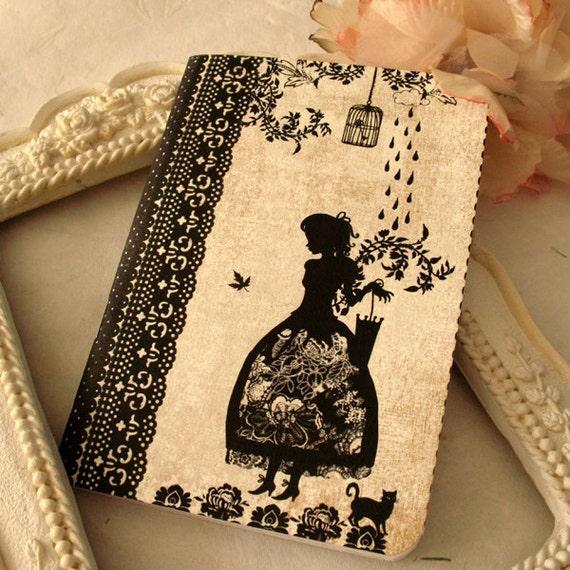 Mini notebook - Miss Shadow - Rain
