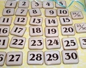 Upcycled ONE OF A KIND Calendar Tile Necklace - Numbers