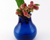 Cobalt Blue Miniature Lampwork Vase