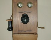 Vintage Handcrafted Reproduction Crank Style Telephone
