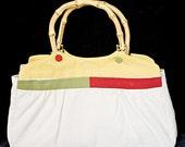 Jackie O. Reversible Canvas\/Jacquard Handbag
