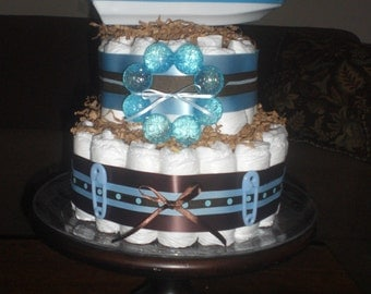 Speed Boat Baby Boy Nautical Diaper Cake Sailboat or Speed Boat