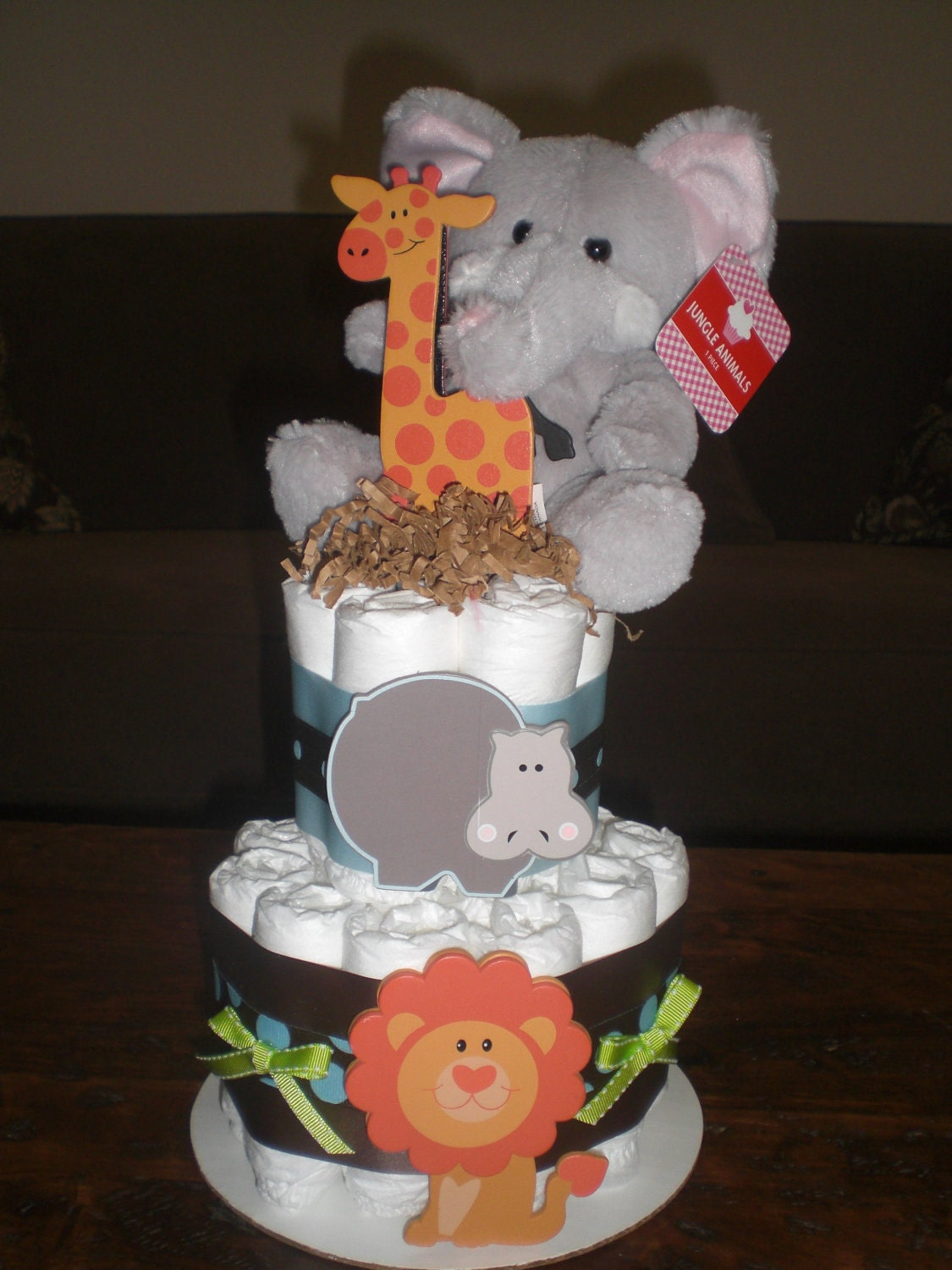 Safari Jungle Theme Diaper Cake Baby