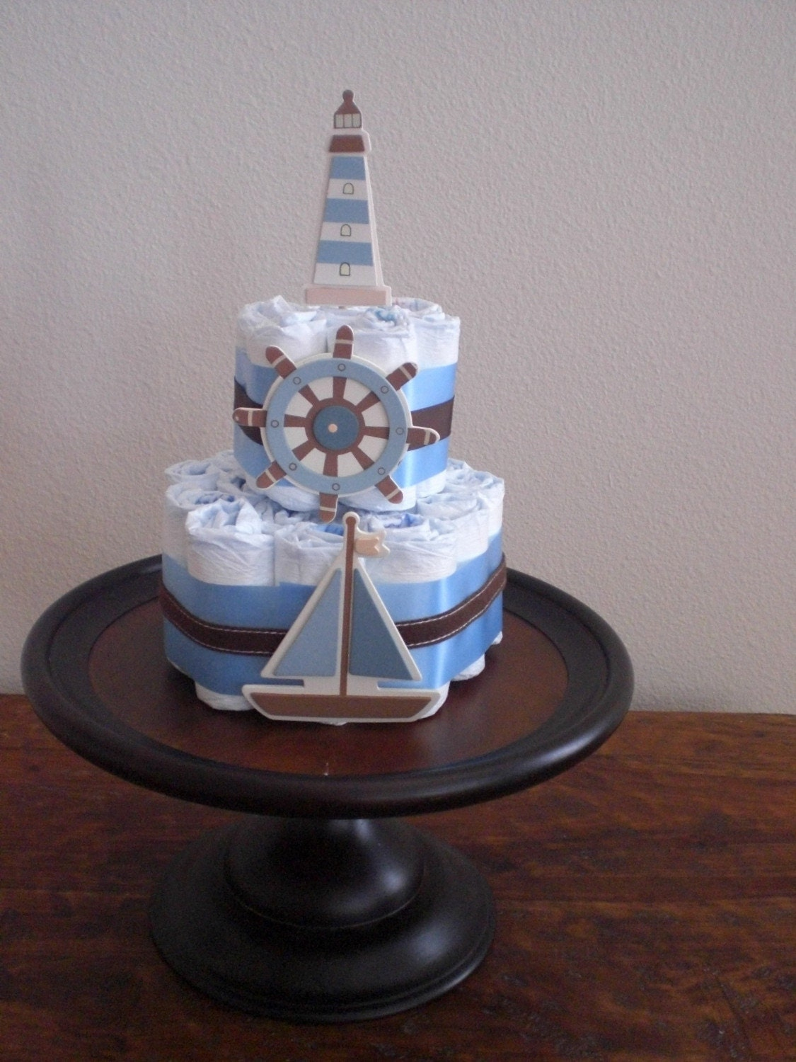 Light House Sailboat Diaper Cake 3 Tier For Stacy