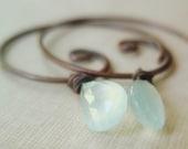 Whisper - Earrings - AAA grade chalcedony