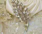 Vintage  1920s-1930s Weiss Art Deco, Nouveau Rhinestone Hair Clip by Romancing the Bling