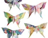 "Custom listing for John Powers - 200 origami dragonflies 6""x6"" floral paper"