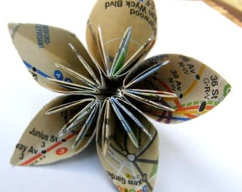 12 NYC Subway Map Kusudama Origami Flowers