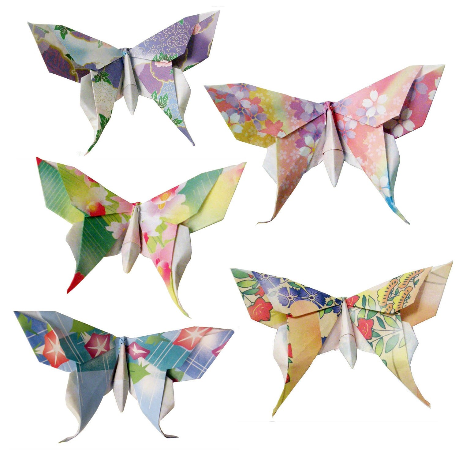 20 Small Swallowtail 3D Origami Butterflies by PullingPetals - photo#20