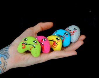 Tiny Zombie Plush - Small Stuffed Cute Undead Stuffed Toy Kawaii Pocket Softie (You Pick the Color)