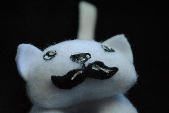 Mustache Kitty - Miniature Plush Dapper Cat