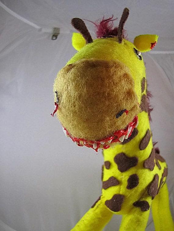 Zombie Giraffe Plush (made to order)