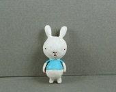 Chubby Little Bunny In Blue Shirt