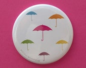 Pocket Mirror - Umbrellas