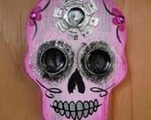 Sugar Skull wall art 'Pinky Tuscadero'