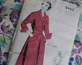 Vintage Sewing Pattern 1940s 1950s Womens Dress -  US Size 10 - 12 - Weldons UK - 40s 50s dress pattern unused factory folded