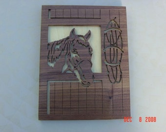 Horse in stall wall hanging