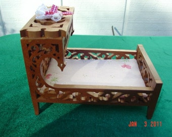 Cherrywood doll house bed