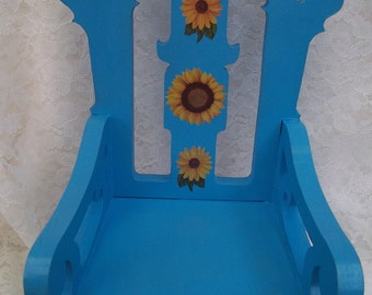 hearts and flowers doll chair