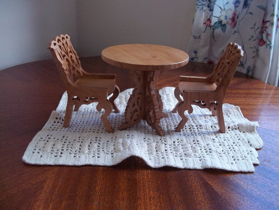 Cherry dining room set for doll house