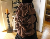 Striped Victorian Steampunk Mourning Bustle by The Sanatorium