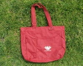 Tote Bag Recycled Red with Pockets by Hinix Tees
