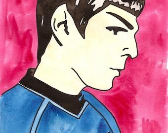 Son of Sarek - Spock - Watercolor Print Postcard