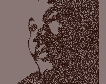 So Let it Rain - Martin Luther King, Jr. - Scribblegraph Art Postcard