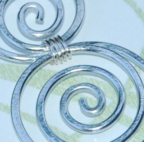 Five Dollar Friday Sale Silver Double Spiral Pendant