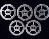 SteamPunk Buttons - 5 Steampunk Gear Buttons in fine Pewter