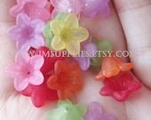 Mix Color Acrylic Lucite Flower Cap Bead
