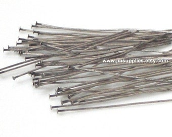 1-1/2, 24 Gauge Headpin, Antiqued Silver