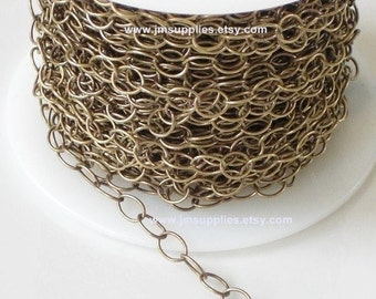 Antique Brass Metal Oval Cable Chain CHAB2600