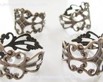 Adjustable Ring Antique Bronze